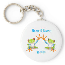 BFF Best Friends Forever Frogs Keychain