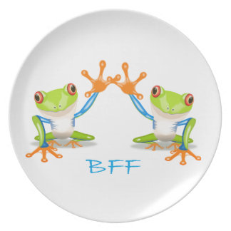 BFF Best Friends Forever Frogs Party Plate