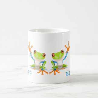 BFF Best Friends Forever Frogs White Coffee Cup