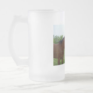 BFF Best Friends Forever - Horses 16 Oz Frosted Glass Beer Mug
