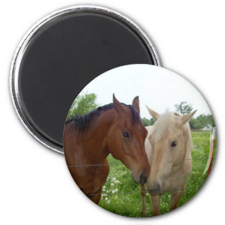 BFF Best Friends Forever - Horses 2 Inch Round Magnet
