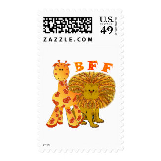 BFF Best Friends Forever Postage Stamp