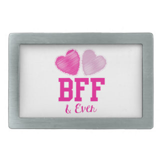 BFF Best Friends Forever Rectangular Belt Buckle