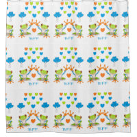 BFF Best Friends Forever Shower Curtain