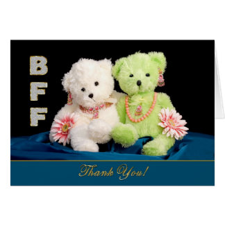 BFF - BEST FRIENDS FOREVER - THANK YOU CARD