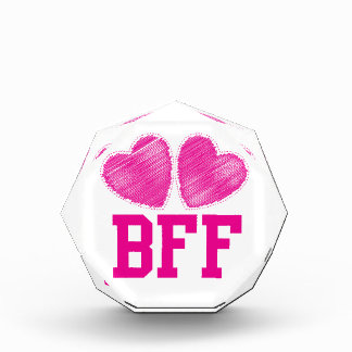 BFF Best Friends forever with love hearts Award