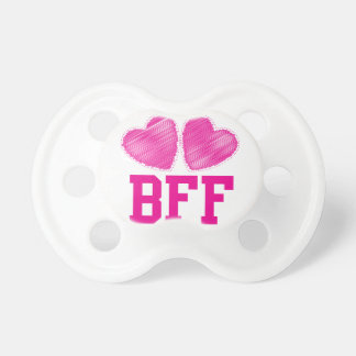 BFF Best Friends forever with love hearts Pacifier