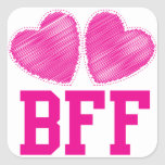BFF Best Friends forever with love hearts Stickers