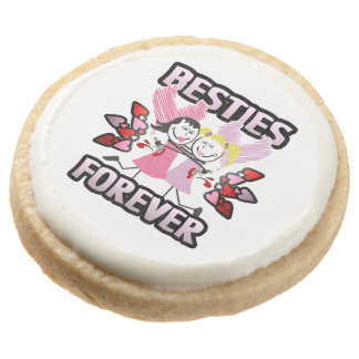 BFF Besties Forever! Round Shortbread Cookie