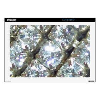 "BFF Bling Shiny Rhinestones Zazzle Skin 17"" Laptop Decal"