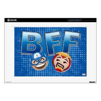 BFF Captain America & Iron Man Emoji Laptop Decals