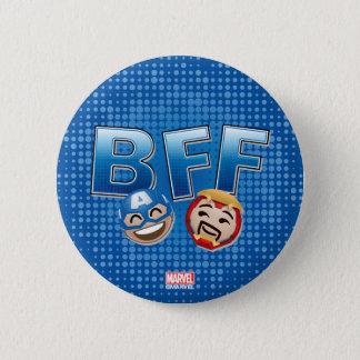 BFF Captain America & Iron Man Emoji Pinback Button