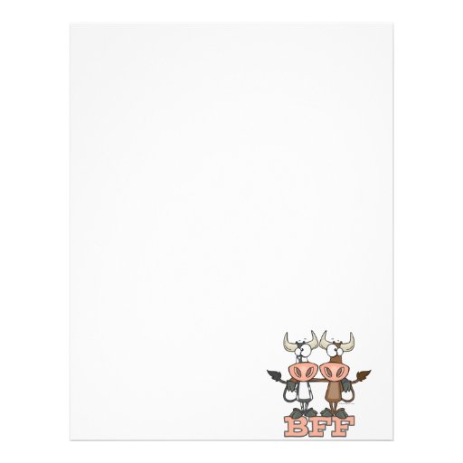 BFF cow best friends forever buddies Customized Letterhead