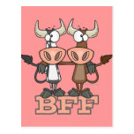 BFF cow best friends forever buddies Post Card