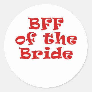 BFF de la novia Pegatina Redonda