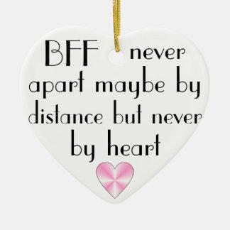 BFF de los mejores amigos del corazón para siempre Adorno Navideño De Cerámica En Forma De Corazón