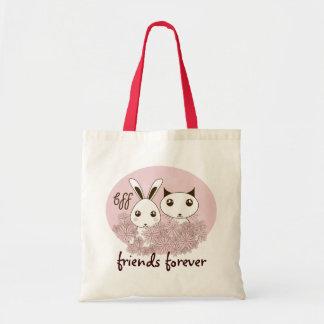BFF - De los mejores amigos rosa animal lindo del