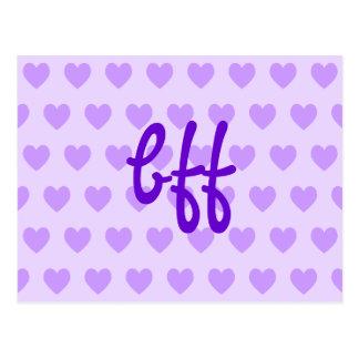 bff en púrpura postales