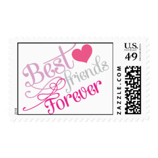 BFF - Fashion Best Friends Forever Postage Stamp