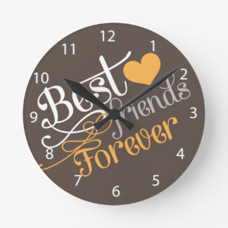 BFF - Fashion Best Friends Forever Round Clock