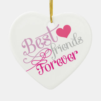 BFF - Fashion Best Friends Forever with Photo Ceramic Ornament