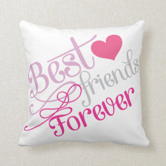 BFF - Fashion Best Friends Forever with Photo Throw Pillow