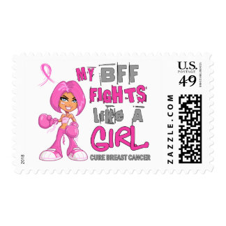 BFF Fights Like Girl Breast Cancer 42 9 png Postage