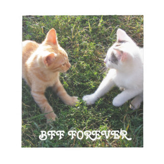 BFF Forever - best friends forever cute cats Notepad