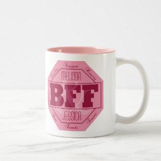 BFF Friendship - custom names - mugs
