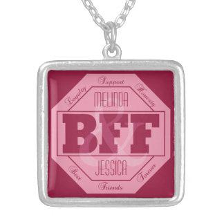 BFF Friendship - custom names - necklace