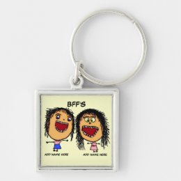 BFF Funny Cartoon Keychain