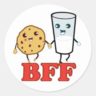 BFF galleta y leche Pegatina