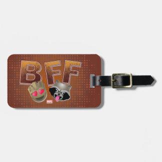 BFF Groot & Rocket Emoji Bag Tag
