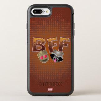 BFF Groot & Rocket Emoji OtterBox Symmetry iPhone 7 Plus Case