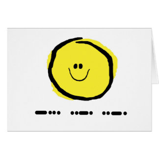 BFF in Morse Code Greeting Card with Smiley