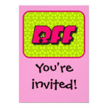 BFF Invitation 13 Cm X 18 Cm Invitation Card