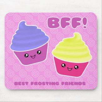 BFF Kawaii Cupcakes Mousepad mousepad
