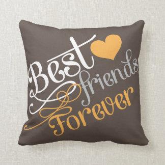 BFF - Mejores amigos de la moda para siempre con Cojín Decorativo