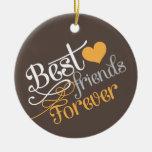 BFF - Mejores amigos de la moda para siempre con Ornamentos De Navidad