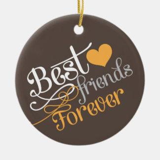 BFF - Mejores amigos de la moda para siempre con l Ornamentos De Navidad