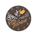 BFF - Mejores amigos de la moda para siempre Relojes De Pared