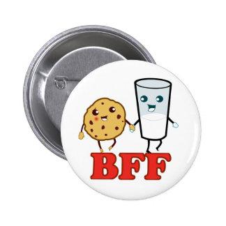 BFF, mejores amigos para siempre Pin Redondo De 2 Pulgadas