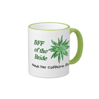 BFF of the Bride Green Ringer Coffee Mug