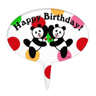 BFF Panda Friends Cake Topper