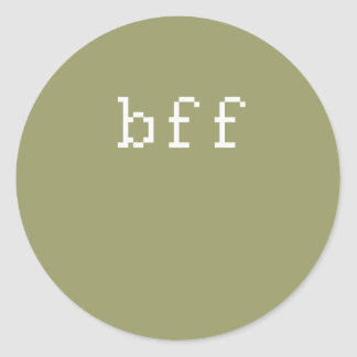 bff etiqueta redonda