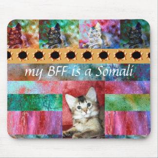 BFF Somali Cat Surprise Mouse Pad