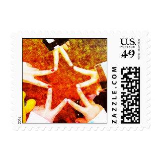 BFF Star Hands Postage Stamp