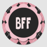BFF STICKERS - Retro Argyle Stickers