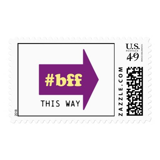 #BFF THIS WAY POSTAGE
