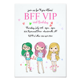 BFF VIP Birthday Party Invitation
